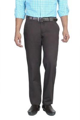 Live In Slim Fit Men's Brown Trousers