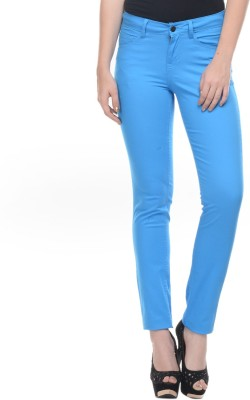 Mayra Skinny Fit Women's Blue Trousers
