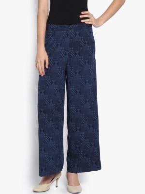 Folklore Regular Fit Women's Dark Blue Trousers