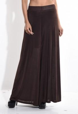 Sohniye Regular Fit Women's Brown Trousers