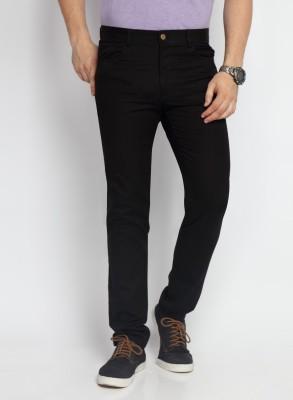 SUITLTD Skinny Fit Men's Black Trousers