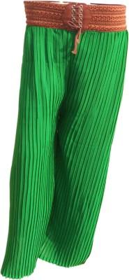 Mastketeers Slim Fit, Regular Fit Women's Green Trousers