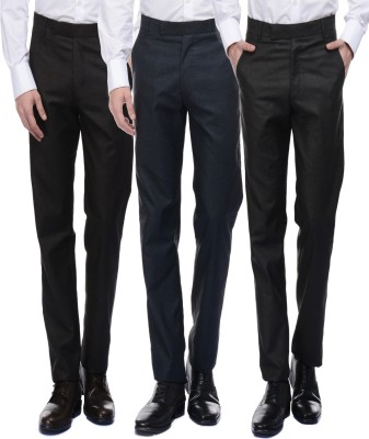 American-Elm Slim Fit Mens Multicolor Trousers
