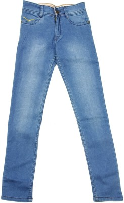 NASCENT Regular Fit Girl's Blue Trousers
