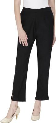 Secret Wish Regular Fit Women's Black Trousers