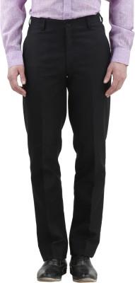 Gazi Regular Fit Men's Black Trousers