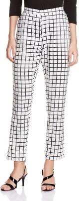 Atayant Regular Fit Women's Black, White Trousers