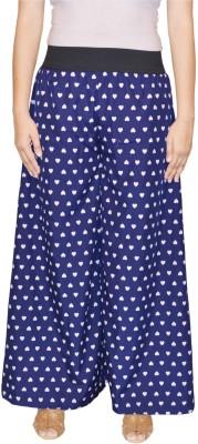 Saree Sparkle Regular Fit Women's Blue, White Trousers