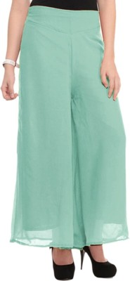BuyNewTrend Slim Fit Women's Light Green Trousers
