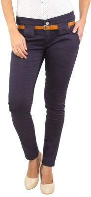 Recap Skinny Fit Women's Blue Trousers