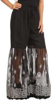 Indiankala4u Regular Fit Women's Black Trousers