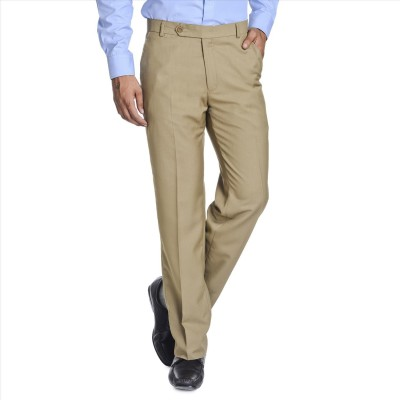 Adam In Style Regular Fit Men's Gold Trousers