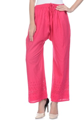 Aarushi Fashion Regular Fit Women's Pink Trousers