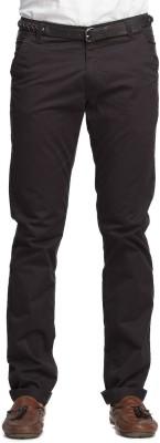 Beevee Regular Fit Men,s Black Trousers