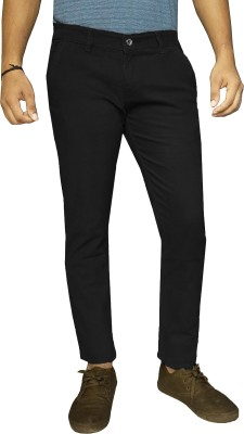 damler Slim Fit Men's Black Trousers