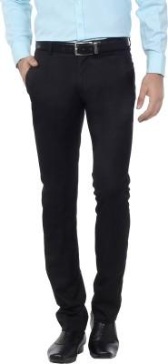 Hideouts Regular Fit Men's Black Trousers