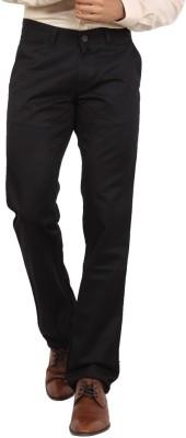 Bottoms Slim Fit Men's Black Trousers