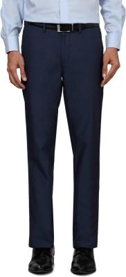 Allen Solly Regular Fit Men,s Dark Blue Trousers