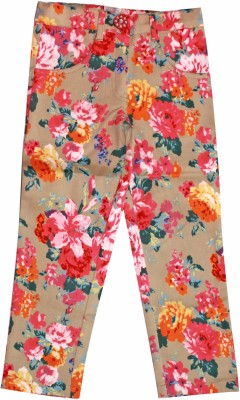 Petals Slim Fit Baby Girl,s Multicolor Trousers