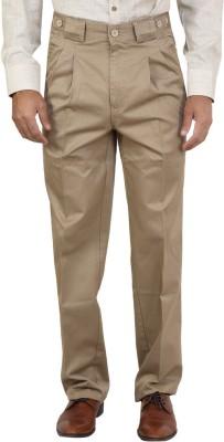 Bottoms Regular Fit Men's Beige Trousers