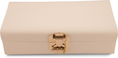 Elan Metal Trunk(Finish and Fabric Color - Ivory)