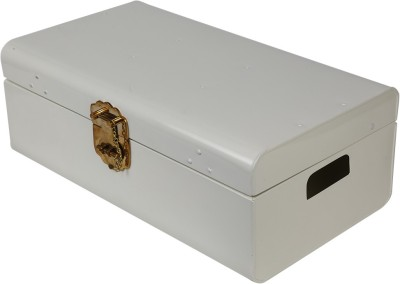 Elan Metal Trunk(Finish and Fabric Color - White)