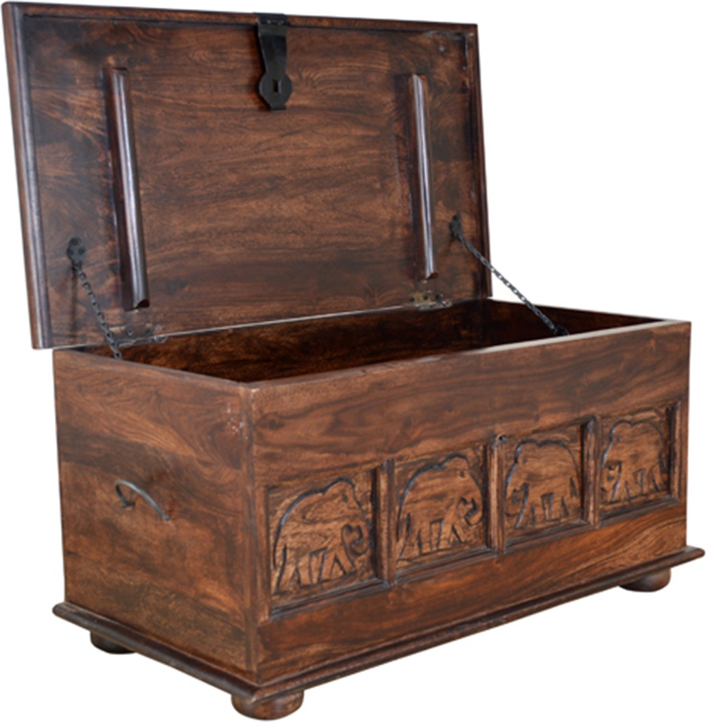HomeTown Tuskar Blanket Chest Solid Wood Trunk
