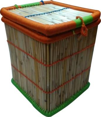 Ecowoodies Gazania Cane Box(Finish and Fabric Color - Matte)