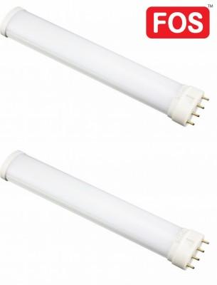 FOS 18-Watt 4-pin base LED Tube Light 2G11 (PL-L Lamp) Retrofit (PACK OF 2), Cool White 6500k Straight Linear LED(White, Pack of 2)