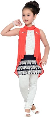 Aarika Self Design Girls Tunic