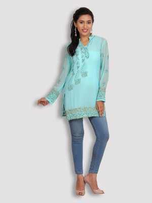 Kasturi-B Swadeshi Karigari Embroidered Women's Tunic