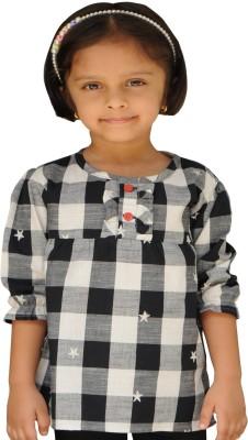 SNOWFLAKES Checkered Girl's Tunic