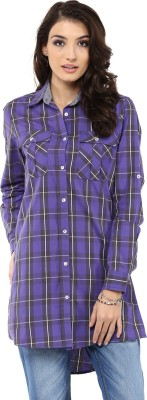 Yepme Checkered Women's Tunic