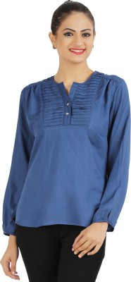 Victor Brown Solid Women's Tunic
