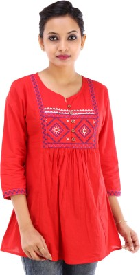 City Cavos Embroidered Women's Tunic