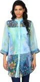 Purple Feather Printed Women's Tunic