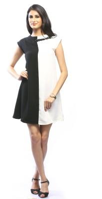 Pinwheel Women's Shift Black, White Dress