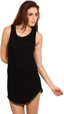 Miss Chick Embellished, Solid Women's Tunic