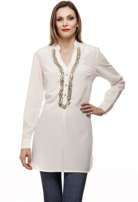 Fashionite Embroidered, Woven, Embellished Women's Tunic