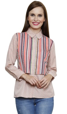 SHE LIKE Casual Full Sleeve Printed Women's Multicolor Top