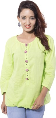 Jupi Solid, Embellished Women's Tunic