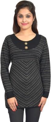 Picot Striped Women's Tunic