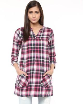Raindrops Checkered Women's Tunic