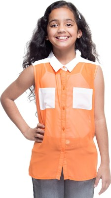 Oxolloxo Solid Girl's Tunic