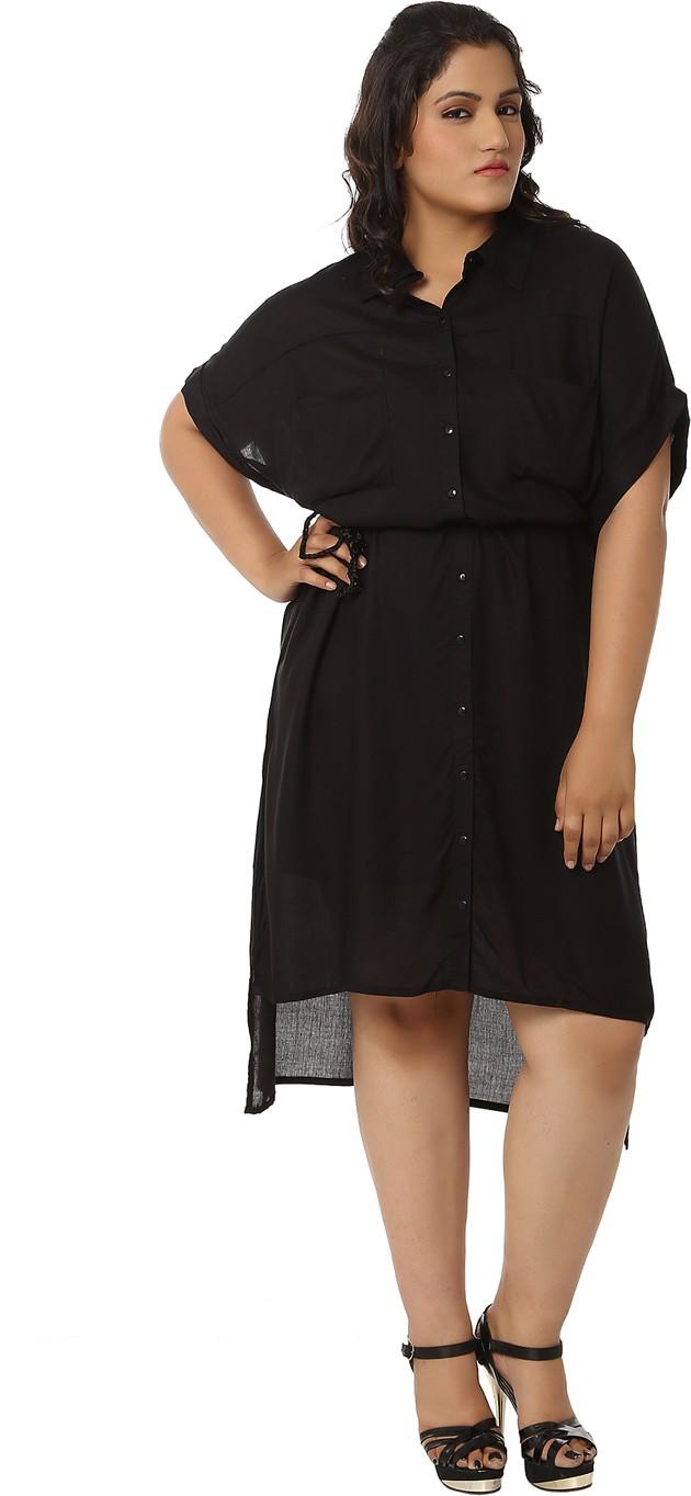 LASTINCH Womens High Low Black Dress