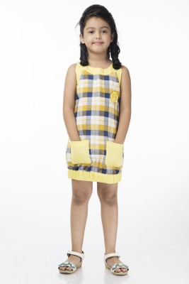 Vastra Valley Checkered Girl's Tunic