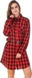 BrandMeUp Women's Shirt Red Dress
