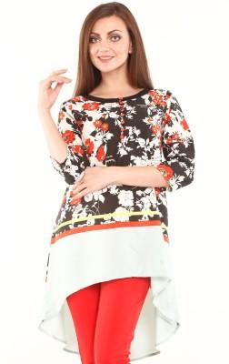 Mustard Floral Print Women's Tunic