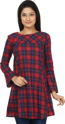 Gossip Girls Checkered Women's Tunic