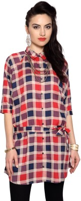 People Checkered Women's Tunic